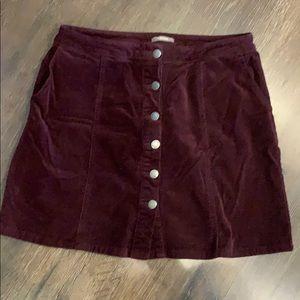 Maurices corduroy maroon skirt